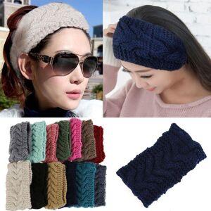 Unbranded Flower Crochet Knit Knitted Headwrap Headband Ear Warmer Hair Muffs Band