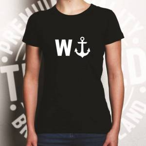 Tim And Ted (M, White) Rude Novelty Womens TShirt W And An Anchor Joke Men Brother Son Dad
