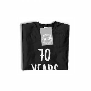 Tim And Ted (S, White) 70th Birthday Joke Womens TShirt 70 Years Young Novelty Text Slogan G