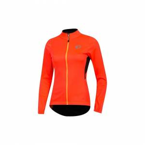 Pearl (S, Orange / Black) PEARL iZUMi Ladies / Women's Elite Pursuit AmFIB Jacket
