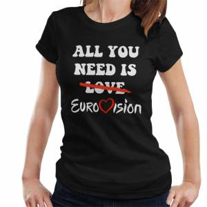 Cloud City 7 (X-Large) All You Need Is Eurovision Women's T-Shirt