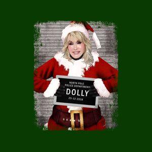 Cloud City 7 (Large, Bottle Green) Christmas Mugshot Dolly Parton Women's T-Shirt