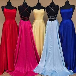 Slowmoose (royal blue, 8) Cross Back Long Prom Dress