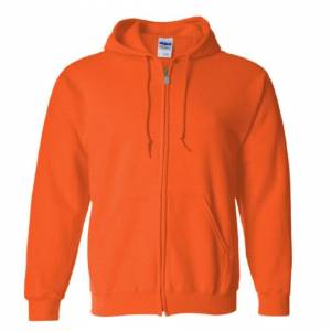 Gildan (M, Black) Gildan Heavy Blend Unisex Adult Full Zip Hooded Sweatshirt Top