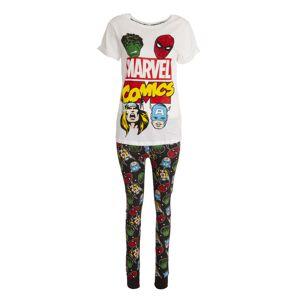 Marvel (16-18 UK, White/Black) Marvel Comics Womens/Ladies Avengers Pyjama Set