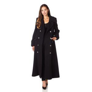 De La Creme (UK 18/EU 44/US 16, Black) De La Creme - Women's Wool & Cashmere Blend Double Br