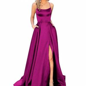 Slowmoose (royal blue, 6) Cross Back Long Prom Dress