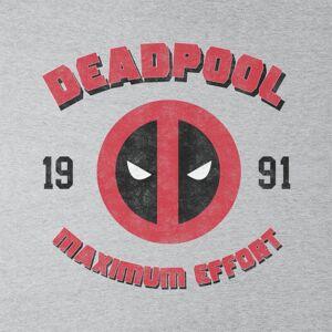 Marvel (Large, Heather Grey) Marvel Deadpool Maximum Effort Women's T-Shirt