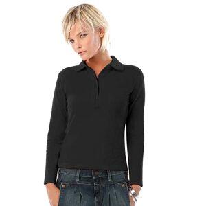 B And C (S, Black) B&C Womens/Ladies Safran Long Sleeve Polo Shirt