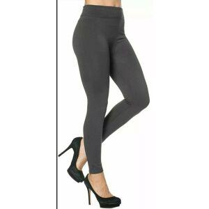 My Little Shop Online (Grey, 22) Women's Girls Leggings Tummy Control Lined High Waist Workout Gym Pla