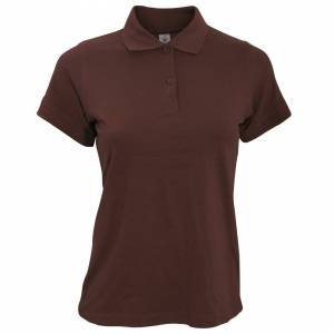 B And C (M, Brown) B&C Safran Pure Ladies Short Sleeve Polo Shirt