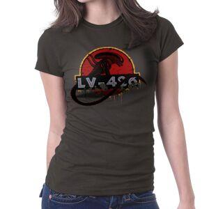 Cloud City 7 (XX-Large, Charcoal) Acheron LV 426 Xenomorph Alien Jurassic Park Women's T-Shir