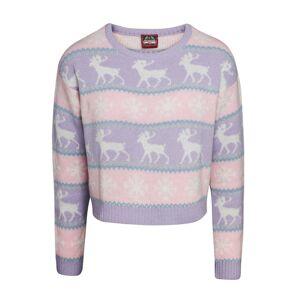 Christmas Shop (L, Pink/Purple) Christmas Shop Womens/Ladies Boxy Nordic Jumper