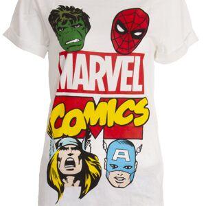 Marvel (12-14 UK, White/Black) Marvel Comics Womens/Ladies Avengers Pyjama Set