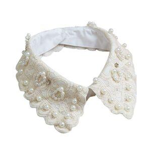 Unbranded 8 Styles  Women\'s Fake False Half Shirt Blouse Peter Pan Detachable Collar Tie