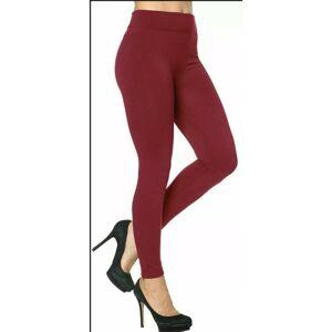 My Little Shop Online (Wine, 22) Women's Girls Leggings Tummy Control Lined High Waist Workout Gym Pla