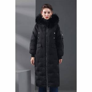 Unbranded Large Real Natural Raccoon Fur 2017 High Quality Winter Jacket Women White Duck