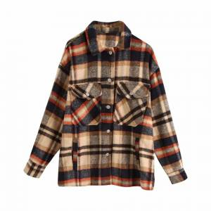 Slowmoose (HK, S) Autumn red Plaid coats and jackets