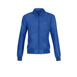 B And C (M, Royal Blue/ Neon Orange) B&C Womens/Ladies Trooper Lightweight Bomber Jacket