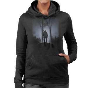Cloud City 7 (Large) Witcher White Wolf Women's Hooded Sweatshirt