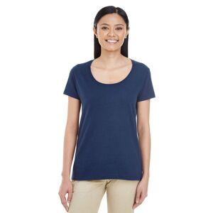 Gildan (L, Navy) Gildan Womens/Ladies Short Sleeve Deep Scoop Neck T-Shirt