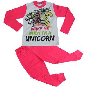 a2zkids (9-10 Years) Kids Girls Pyjamas Wake Me When I'M A Unicorn Nightwear Loungewear