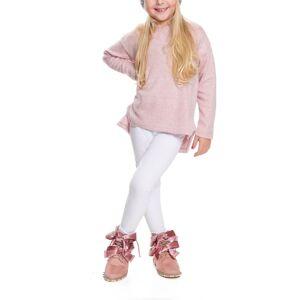 JS One (White, 120cm / Age 6-7 Years) Girls Plain Soft Full Length Leggings Jegging Pan