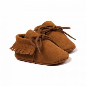Unbranded PU Suede Leather Newborn Baby Boy Girl Moccasins Soft Moccs Shoes Bebe Fringe So