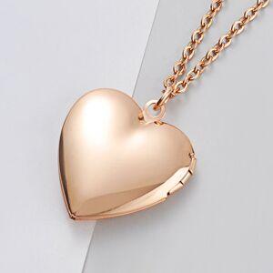 Cadoline Gold-Tone Polished Love Heart Keepsake Photo Locket Necklace 2.5 x 2.5cm & 18 In