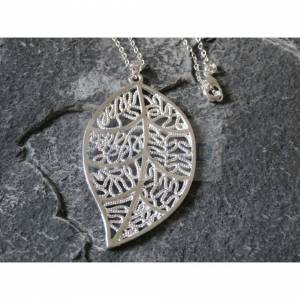 Jinsted (Without Gift Box) Silver Necklace with Large Leaf Pendant WN010