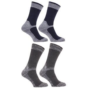 Universal Textiles (UK Shoe 6-12, EUR 40-47, Navy/Grey) Mens Heavy Weight Reinforced Toe Work Boot