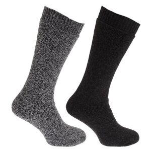 Universal Textiles (UK 6-11 (Euro 39-45), Charcoal/Grey Marl) Mens Thermal Wool Blend Long Length S