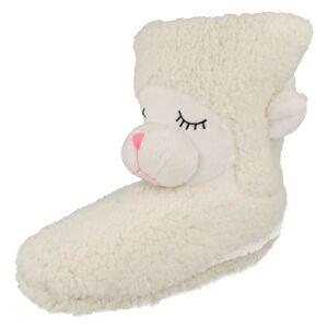Spot On (Medium, White) Ladies Spot On Country Animal Slippers