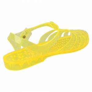 Spot On (UK 7, Yellow) Ladies Spot On Transparent Jelly Shoes