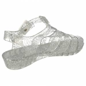Spot On (UK 5, Silver) Ladies Spot On Casual Jelly Sandals