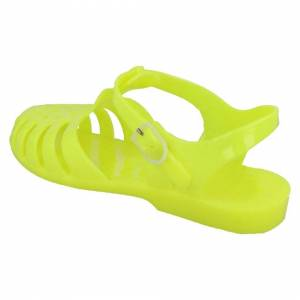 Spot On (UK 5, Yellow) Ladies Spot On Jelly Sandals