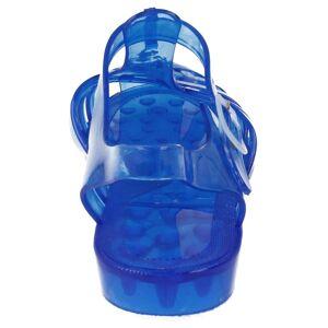 Spot On (UK 7, Blue) Ladies Spot On Transparent Jelly Shoes
