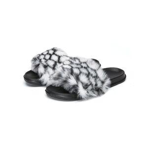 Buteene (Black, 12 (Adults')) Home Slippers Comfort Warm Color Wool Ball Cotton Indoor U