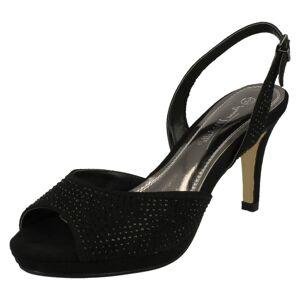 Anne Michelle (UK 5, Black) Ladies Anne Michelle Slingback Sandals