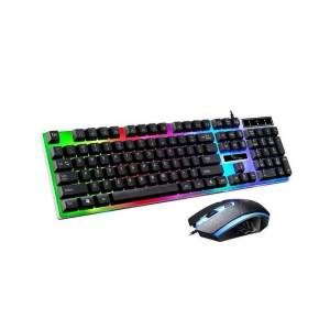 Unbranded (Black) LED Rainbow Gaming Keyboard & Mouse Set