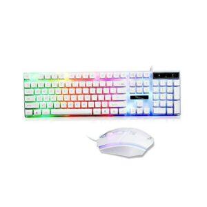 Unbranded (White) LED Rainbow Gaming Keyboard & Mouse Set