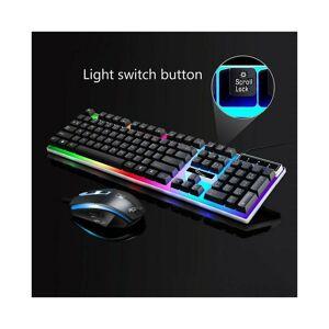 Unbranded (Black) Keyboard Mouse Set PC Gaming Rainbow Backlit