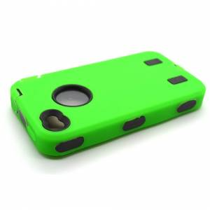 ACENIX Heavy Duty Builders Workman Green Armour Case for iPhone 4 & 4S - STURDY CASE