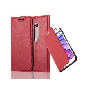 Cadorabo (APPLE RED) Cadorabo Case for Motorola MOTO G3 case cover