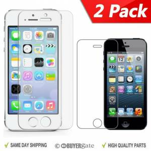 ACENIX 2 x Genuine Tempered Glass Screen Cover Protector Apple iPhone 5 5G 5S 5C