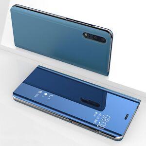 FinestBazaar (Huawei P Smart (2019), Blue) New Luxury Smart View Mirror Flip Stand Case Phone