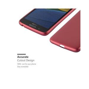 Cadorabo (METALLIC RED) Cadorabo Case for Motorola MOTO G5 case cover