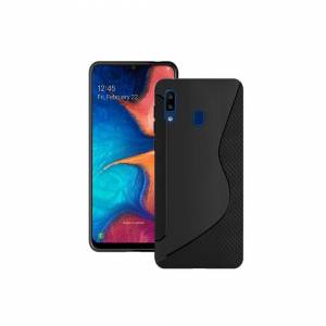 Samsung Case For Samsung Galaxy A20e 2019 Black S Line Silicone Gel Cover