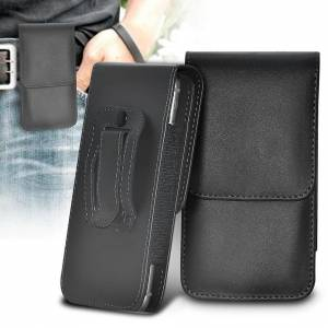 Custom Whip Styling Samsung Galaxy S20 5G Black XXLarge Vertical Faux Leather Belt Holster Pouch Cov