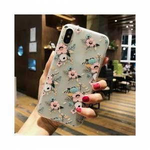 Simply My Love Flowers Floral Silicone Rubber Soft Phone Cover Iphone 6 6s 7 8 Plus X Xr Xs Max
